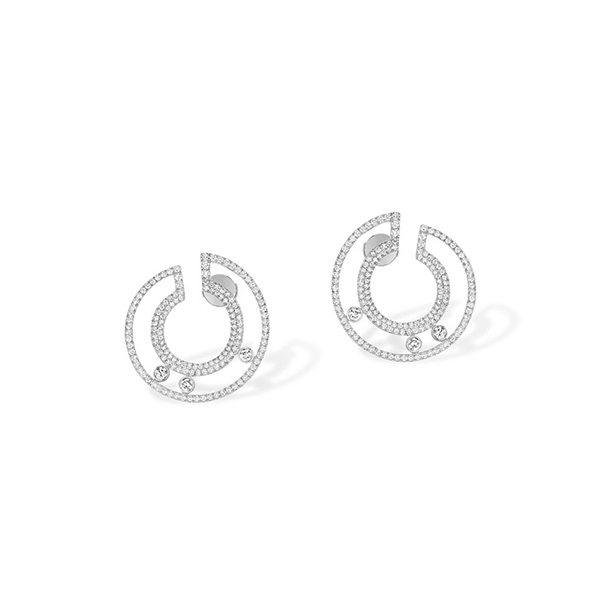 MESSIKA Move Romane Diamond Hoop Earrings photo