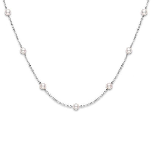 MIKIMOTO Tin Cup Pearl Necklace photo