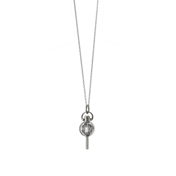 MONICA RICH KOSANN Carpe Diem Pocketwatch Key Charm Necklace photo