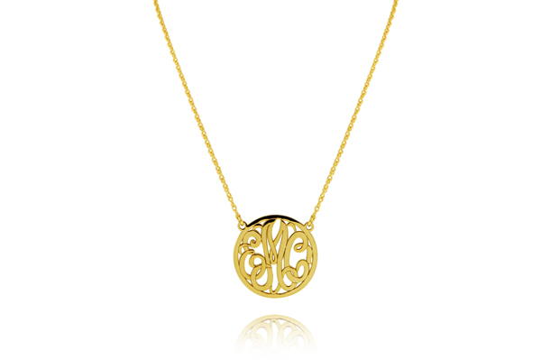 Monogram Disc Necklace photo