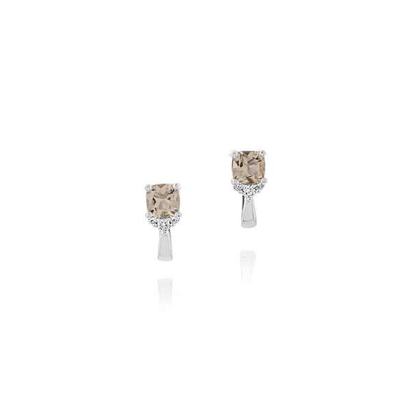 Morganite & Diamond Earrings photo