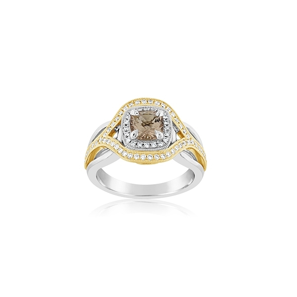Morganite & Diamond Ring photo
