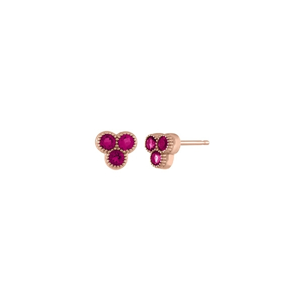 MY STORY Pink Tourmaline Trio Earrings photo