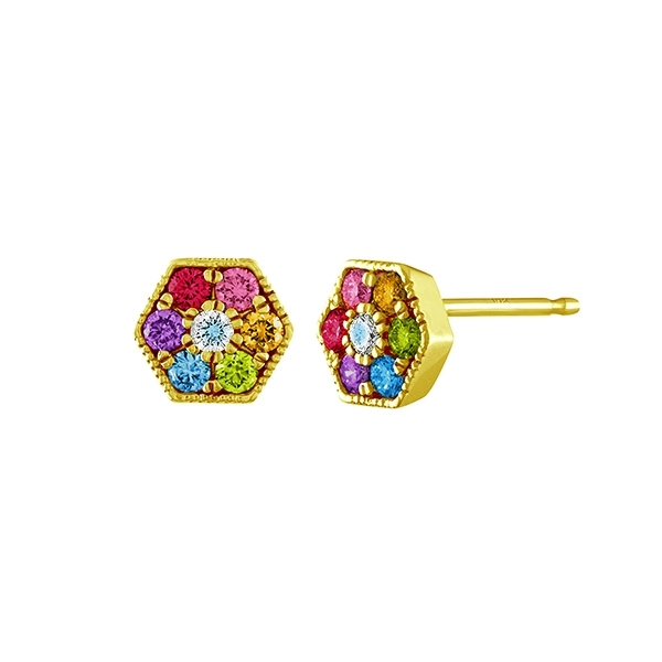 MY STORY Rainbow Stud Earrings photo