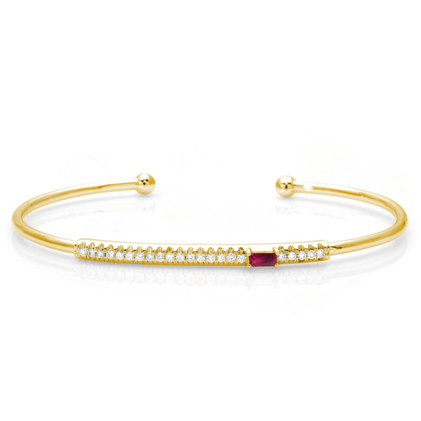 MY STORY Ruby & Diamond Bracelet photo