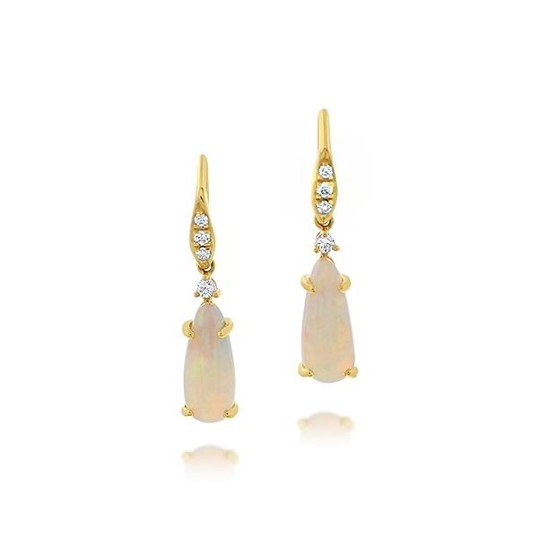 Opal & Diamond Earrings photo