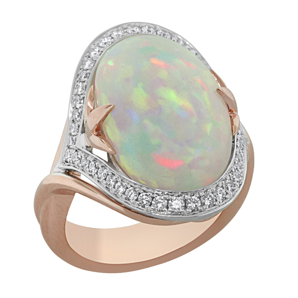 Opal & Diamond Ring photo