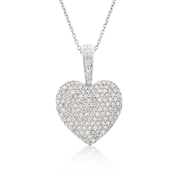 Pave Diamond Heart Necklace photo