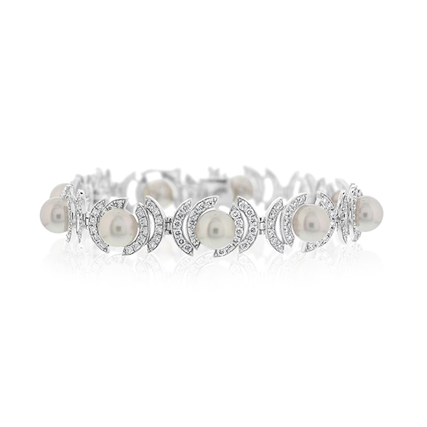 Pearl & Diamond Bracelet photo