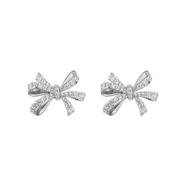 PENNY PREVILLE Diamond Bow Earrings photo