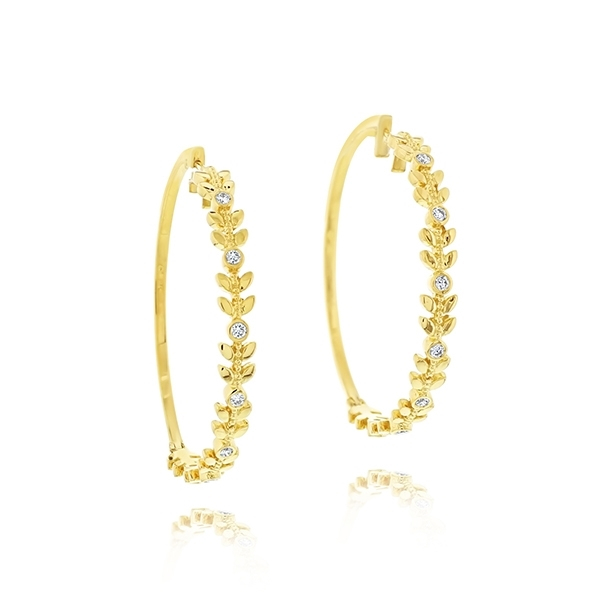 PENNY PREVILLE Diamond Leaf Hoops photo