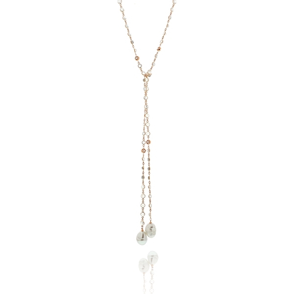 PENNY PREVILLE Mixed Stone Lariat photo