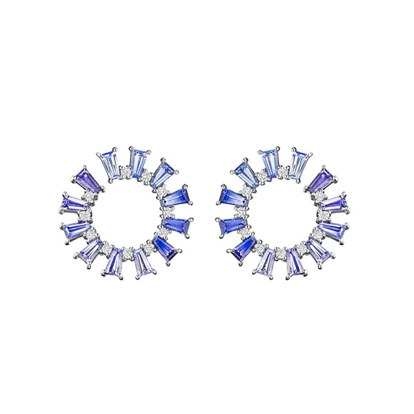 PENNY PREVILLE Ombre Sapphire Earrings photo