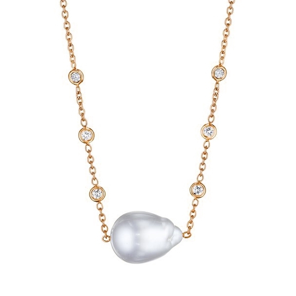PENNY PREVILLE Pearl & Diamond Necklace photo