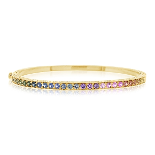 PENNY PREVILLE Rainbow Sapphire Bangle photo
