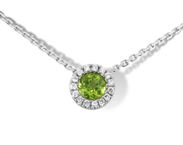 Peridot & Diamond Pendant photo