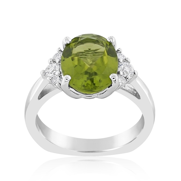 Peridot & Diamond Ring photo