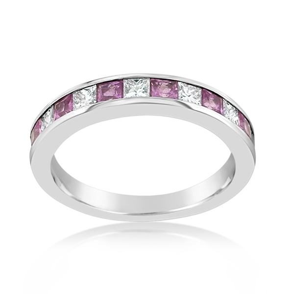 Pink Sapphire & Diamond Band photo