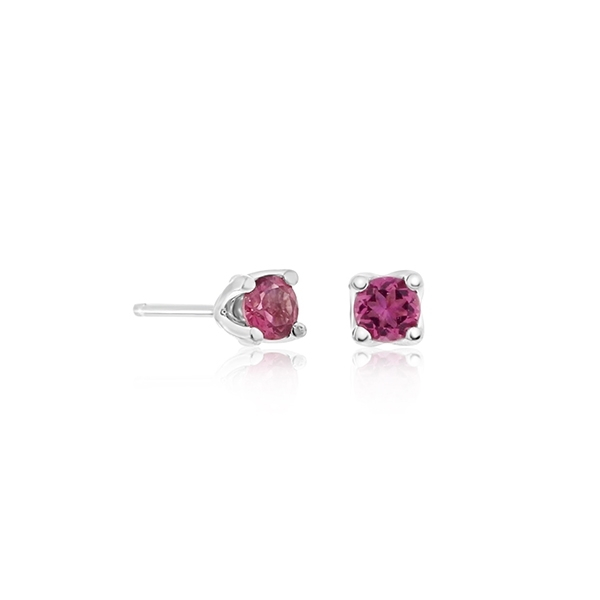 Pink Tourmaline Stud Earrings photo