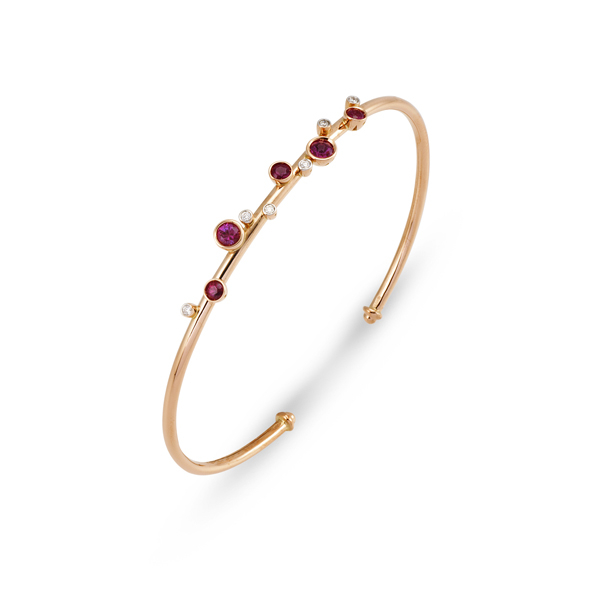 PONTE VECCHIO Ruby and Diamond Stacking Bangle photo