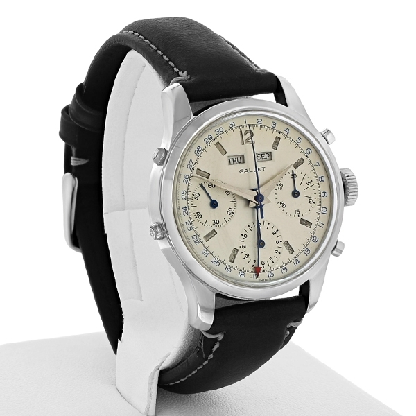 Pre-Owned Gallet Triple Date Chronograph Watch photo