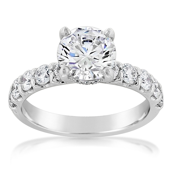 PRECISION SET Diamond Engagement Ring photo
