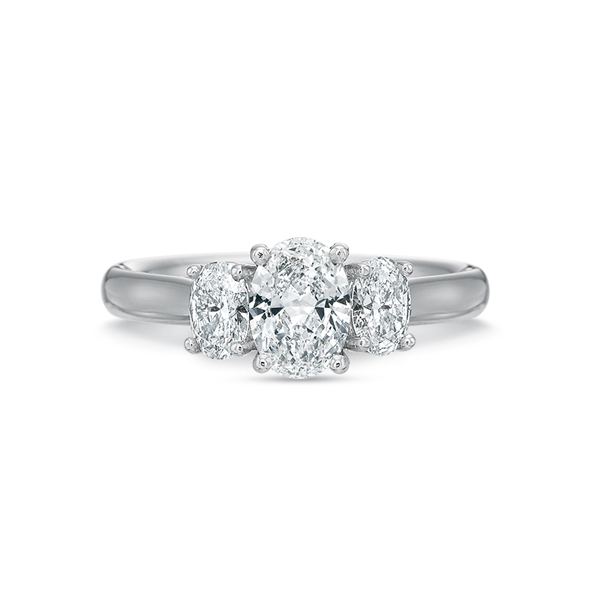 PRECISION SET Three-Stone Ring photo