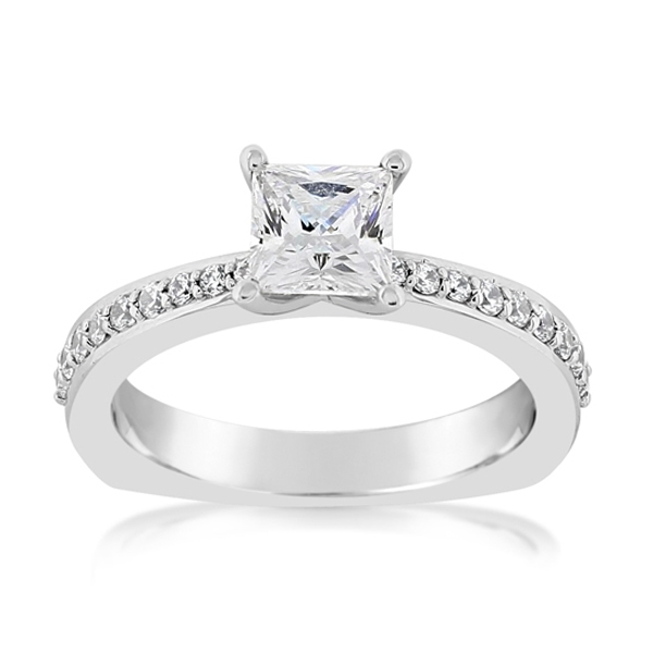 Princess Cut Diamond Engagement Ring photo
