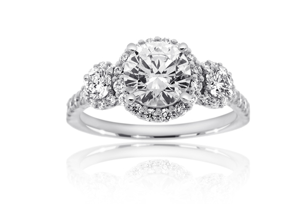 RITANI Three Stone Diamond Engagement Ring photo