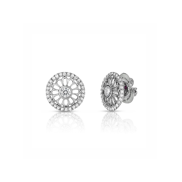 ROBERTO COIN Cento Rosette Diamond Stud Earrings photo