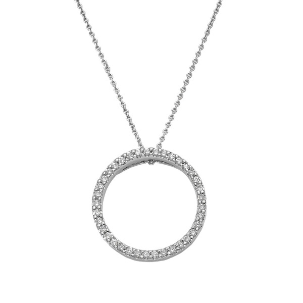 ROBERTO COIN Circle of Life Diamond Pendant photo