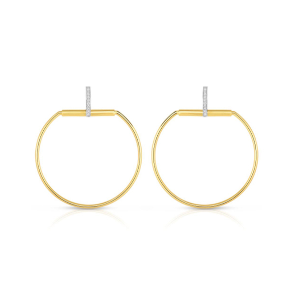 ROBERTO COIN Classic Parisienne Diamond Earrings photo
