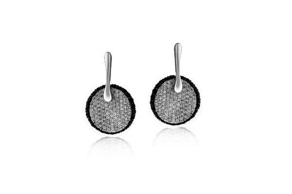 ROBERTO COIN Diamond and Black Sapphire Earrings photo