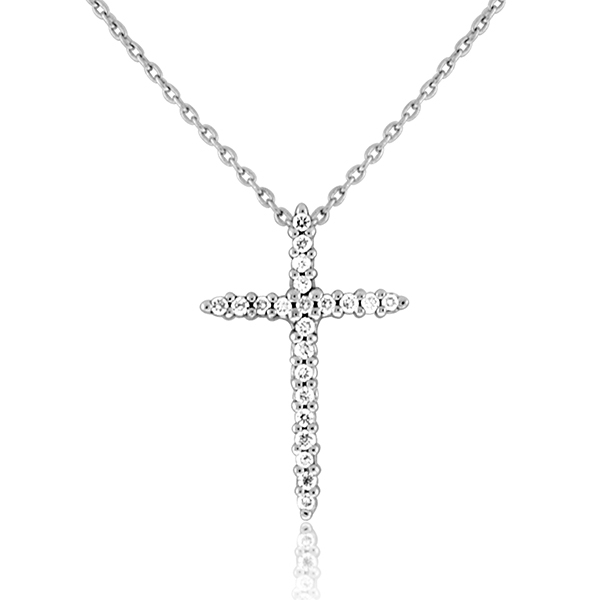 ROBERTO COIN Diamond Cross Necklace photo