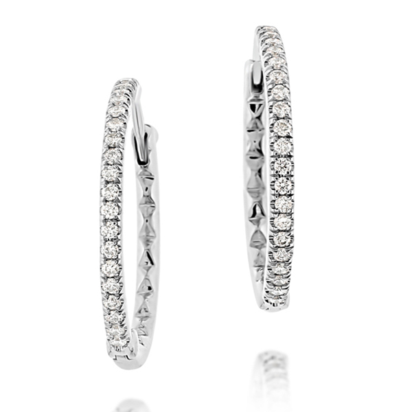 ROBERTO COIN Diamond Hoop Earrings  photo