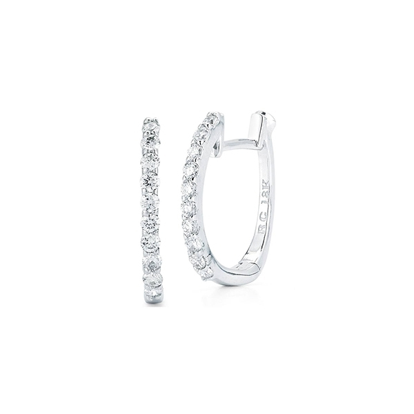 ROBERTO COIN Diamond Huggie Earrings photo