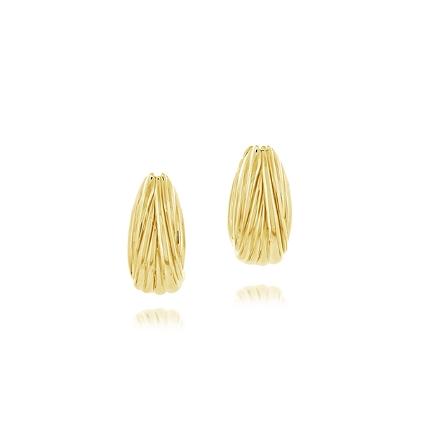 ROBERTO COIN Oro Classic Small Oval Hoops photo