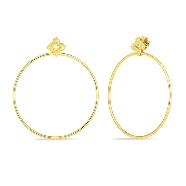 ROBERTO COIN Petite Venetian Large Hoop Drop Earrings photo