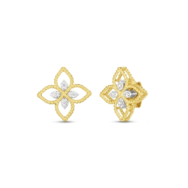ROBERTO COIN Princess Flower Diamond Earrings photo