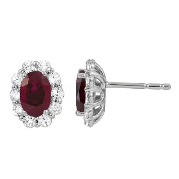 Ruby & Diamond Earrings photo
