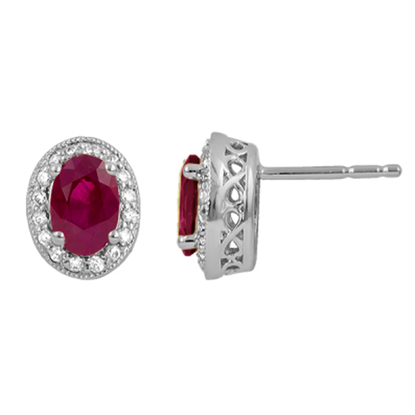 Ruby & Diamond Studs photo