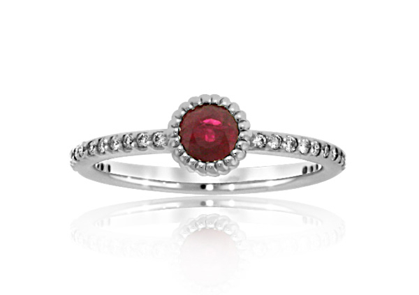 Ruby and Diamond Stack Ring photo
