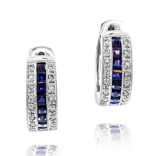 Sapphire & Diamond Earrings photo