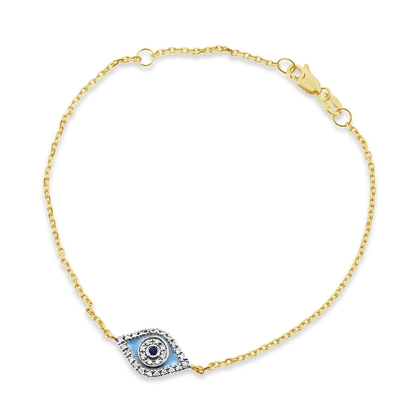 Sapphire & Diamond Evil Eye Bracelet photo