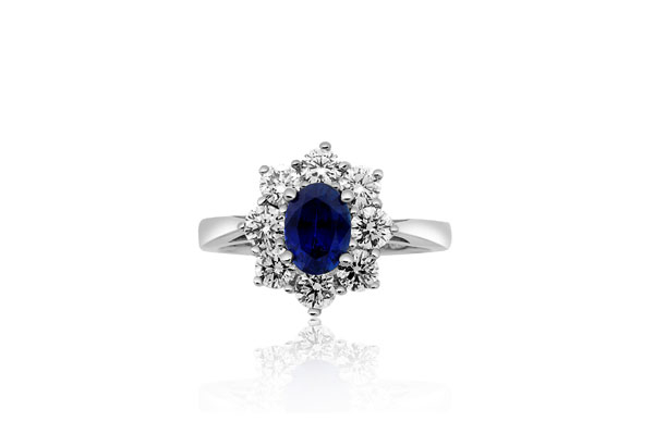 Sapphire and Diamond Ring photo