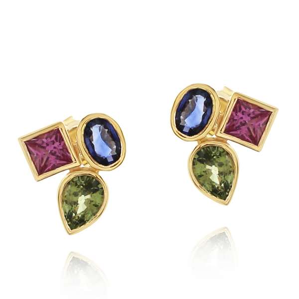 Sapphire Cluster Earrings photo