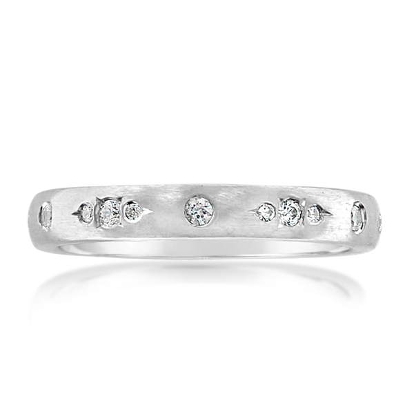 Satin Diamond Wedding Band photo