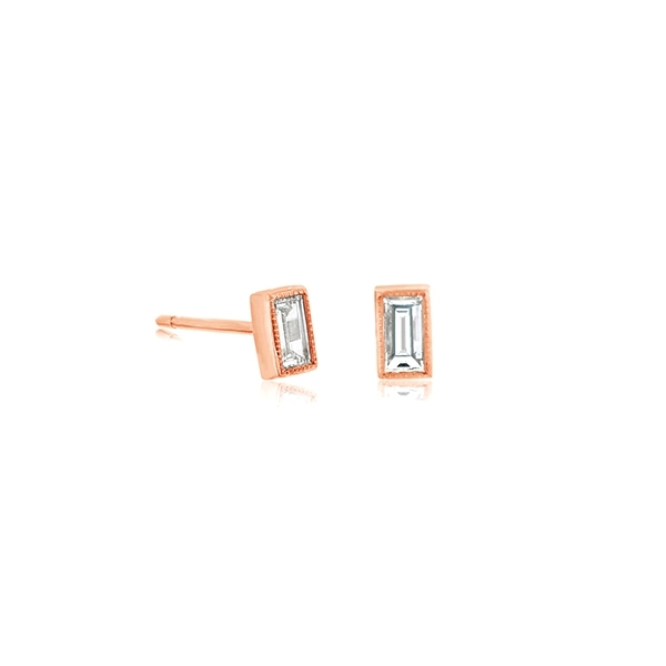 SETHI COUTURE Baguette Diamond Studs photo