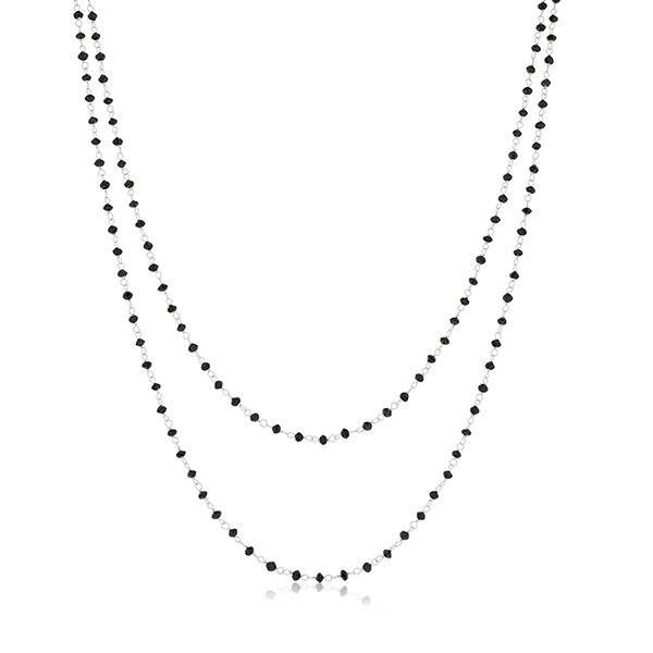 SETHI COUTURE Black Diamond Bead Necklace photo