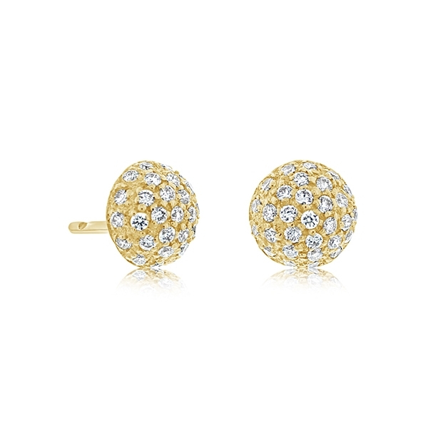 SETHI COUTURE Diamond Disco Stud Earrings photo